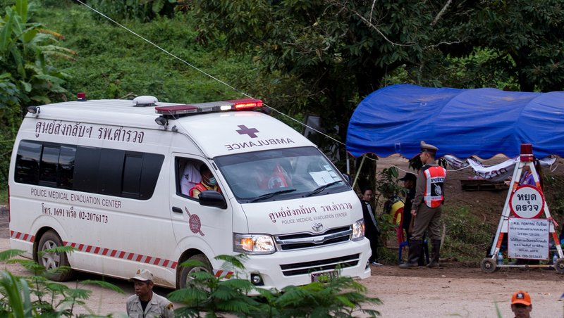All 12 boys and coach rescued after 18 harrowing days trapped in Thai cave