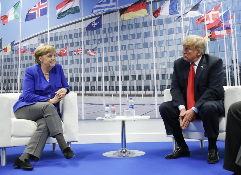 Trump rattles NATO, questioning its value, assailing Germany