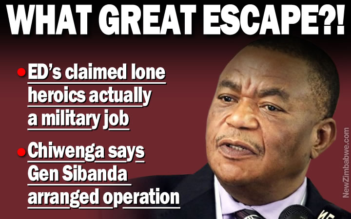 Chiwenga exposes Mnangagwa's 'great escape' yarn