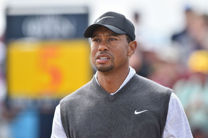 Tiger Woods survives scary collision with security guard