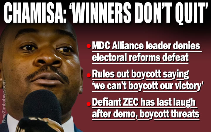 Chamisa denies U-turn on 'no elections without reforms'; says forced by Zimbabweans