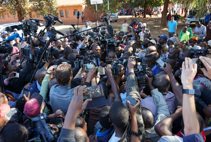 ZEC ban threat on journalists recording interviews outside polling stations
