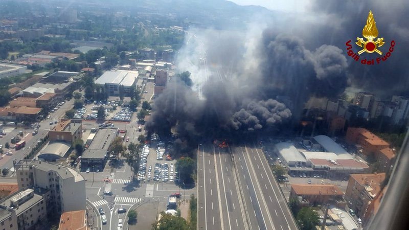 Fuel truck explodes on Italian highway; 2 dead, scores hurt