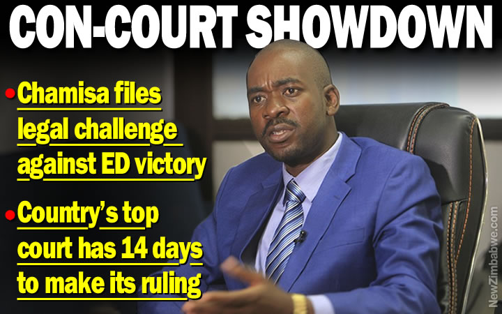 Chamisa lodges Constitutional Court appeal against election result