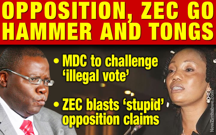More spark for ZEC-MDC feud as opposition claims cop secret vote