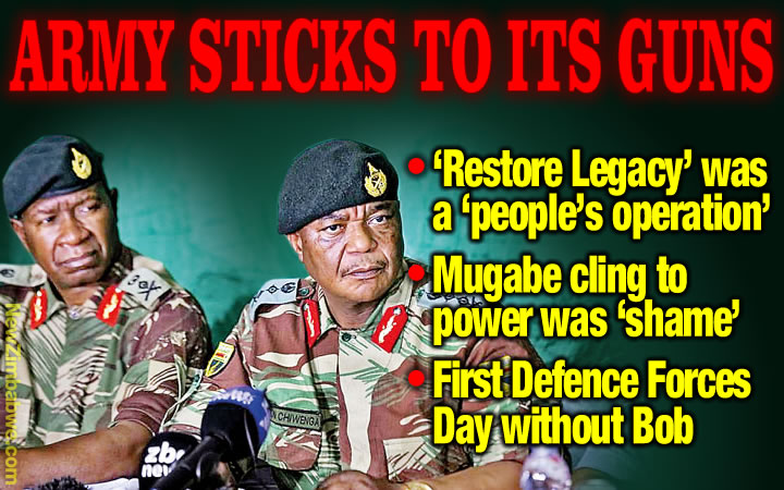 Army boss defends ex-commander-in-chief overthrow as Zim marks Defence Forces Day