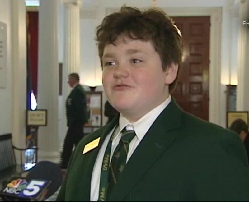 School boy, 14, runs for governor in America's Vermont state