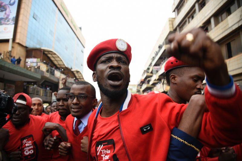 Ugandan police shoot driver, arrest singer-turned-politician