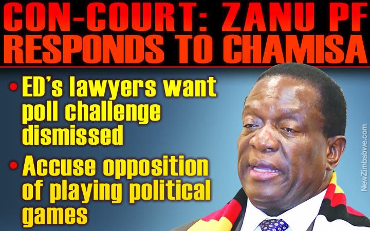Mnangagwa's lawyers urge Con-Court to toss Chamisa challenge