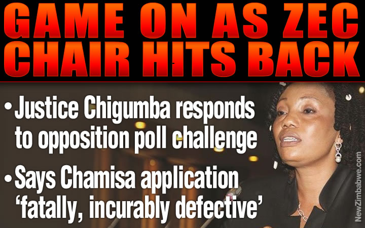 Justice Chigumba in hard hitting Chamisa response; says no valid application before Con-Court