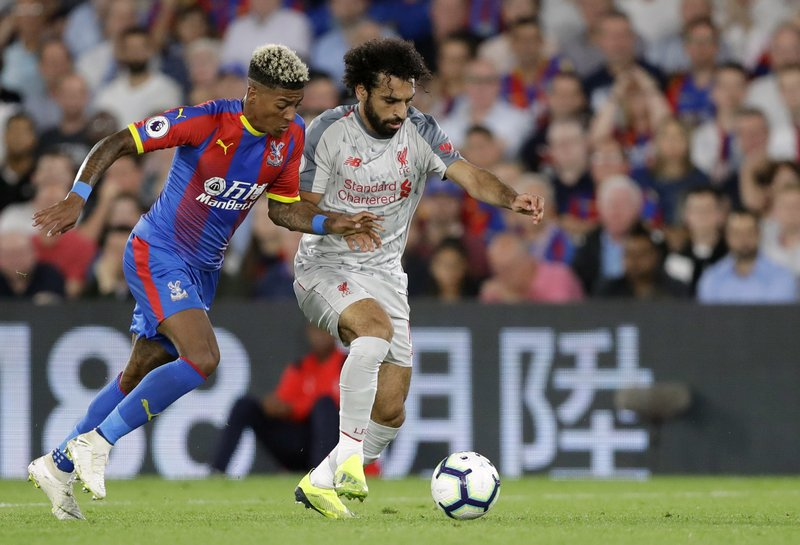 Salah sets up 2 goals, Liverpool beats Palace 2-0 in EPL