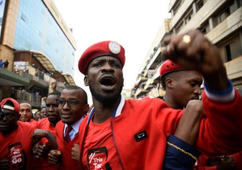 Teargas, warning shots as Ugandans protest pop-star MP arrest