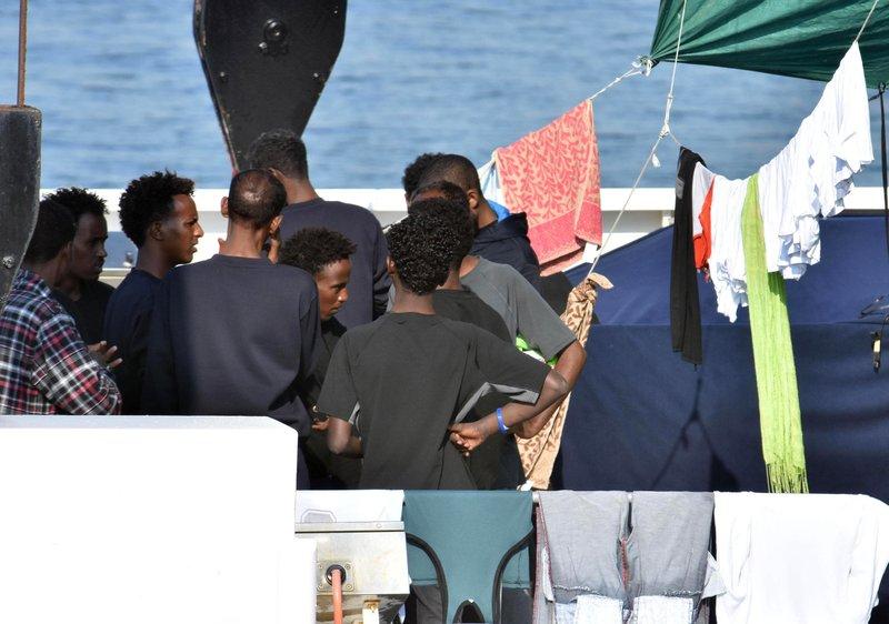 Migrants aboard Italian coast guard ship begin hunger strike