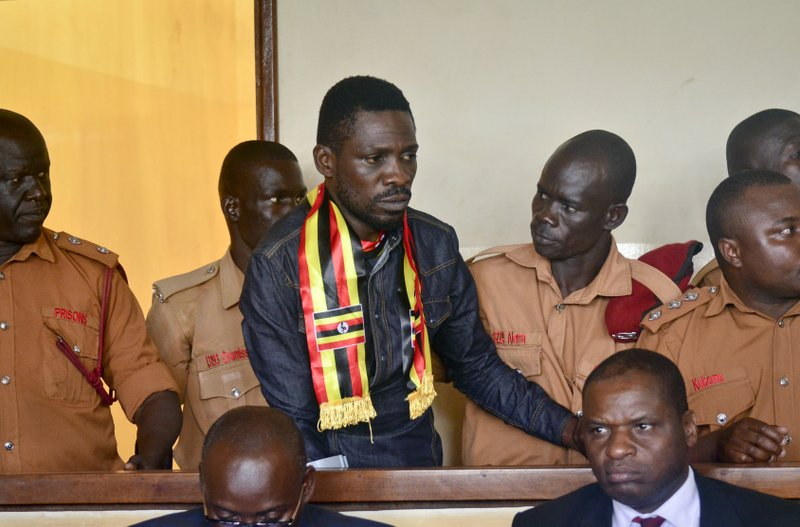 Ugandan pop star and government critic free on bail