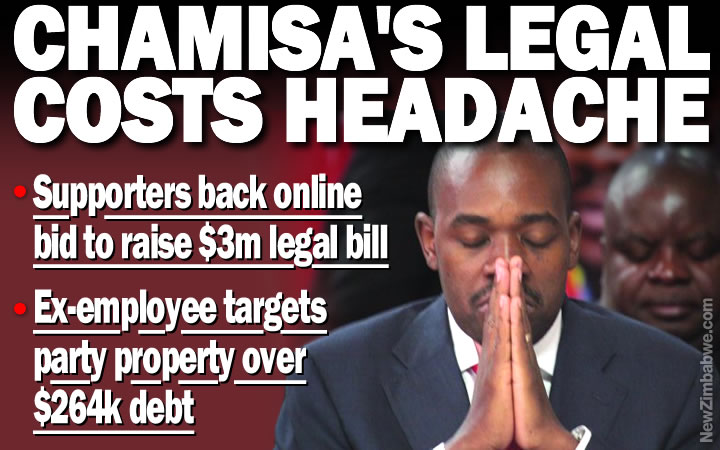 MDC Alliance in appeal for $3m Chamisa legal bill help; ex-employee demands $264,000