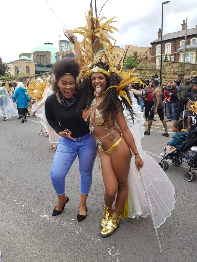 PICTURES & VIDEO: Madam Boss wows Zim stand at UK carnival; no gunshots here – she says