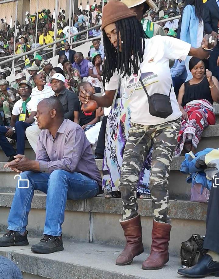 Story of the dancing Sangoma at Mnangagwa inauguration