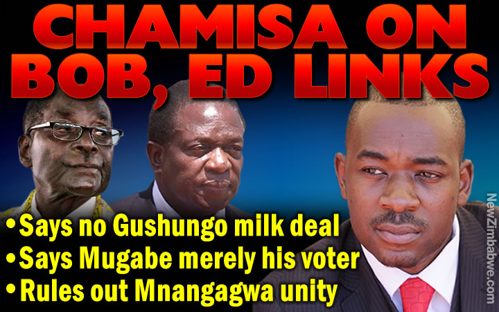 Chamisa denies business ties with Mugabe, rules out ED synergy