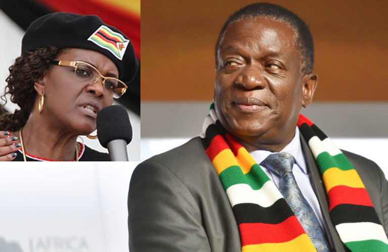 Mnangagwa & Grace Mugabe love-in: Opposition reacts as ED flies former first lady home