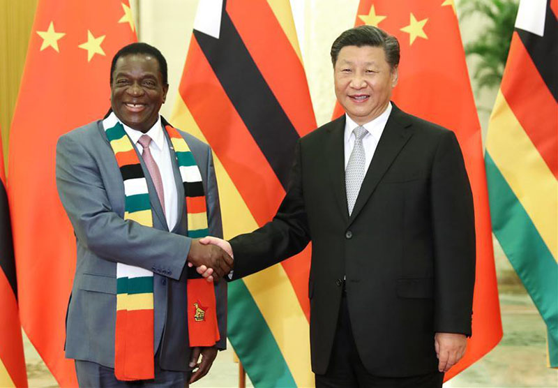 BEIJING: Mnangagwa meets Chinese president; promised more economy support