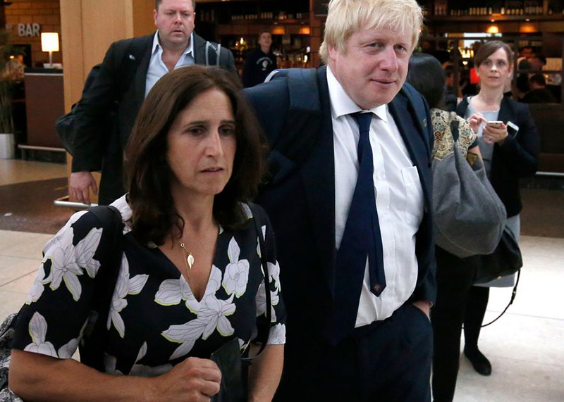 Britain's ex-foreign minister Boris Johnson splits from wife