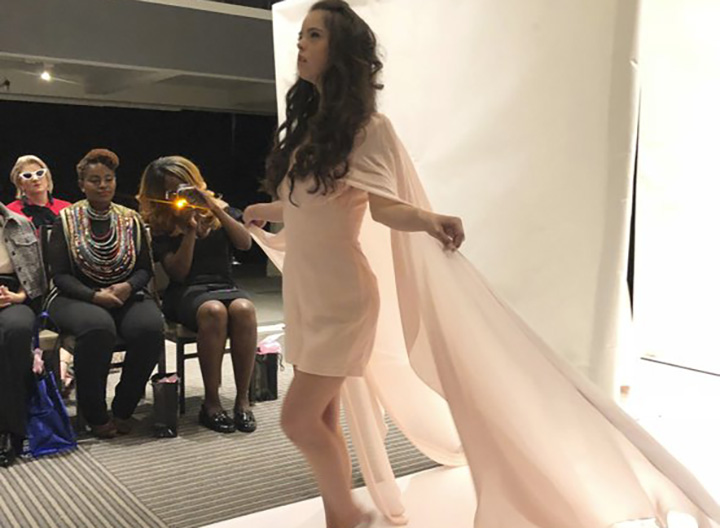 A model with Down syndrome fulfills her fashion week dream