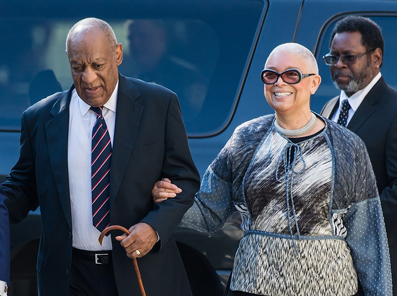 Cosby judge rejects new trial bid; wife sees bias