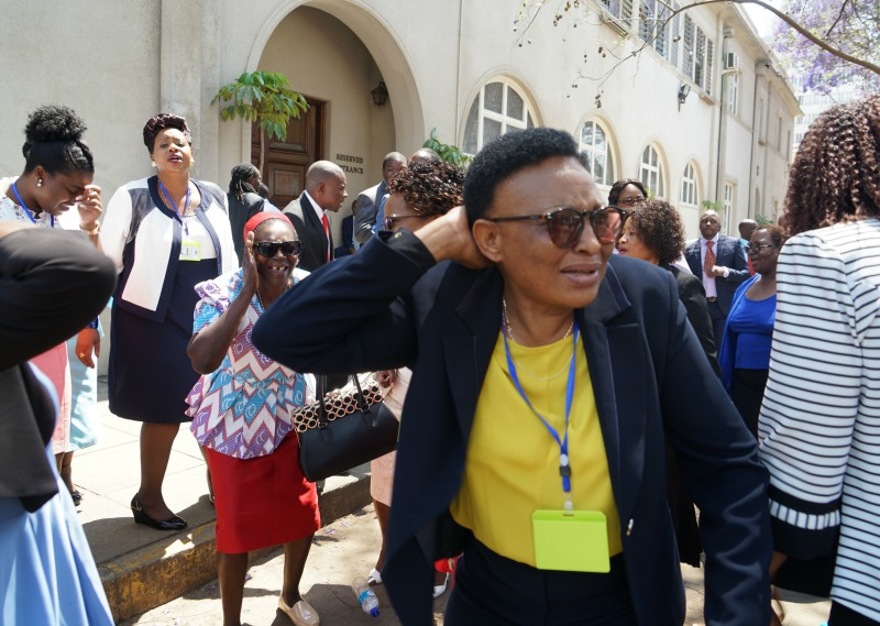 MDC MPs walk out on Mnangagwa while delivering parly opening speech