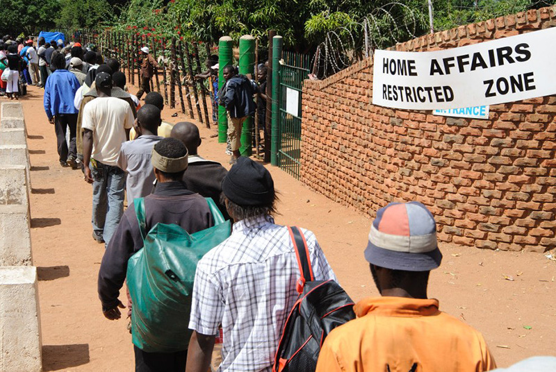 SA: Asylum seekers say officials keep their passports until they buy tickets to Zimbabwe
