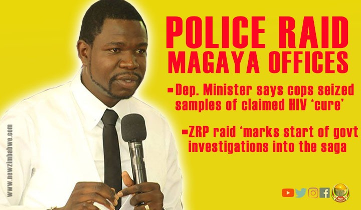 Police raid Magaya's offices to seize HIV 'cure'; United Nations rubbishes preacher's claims