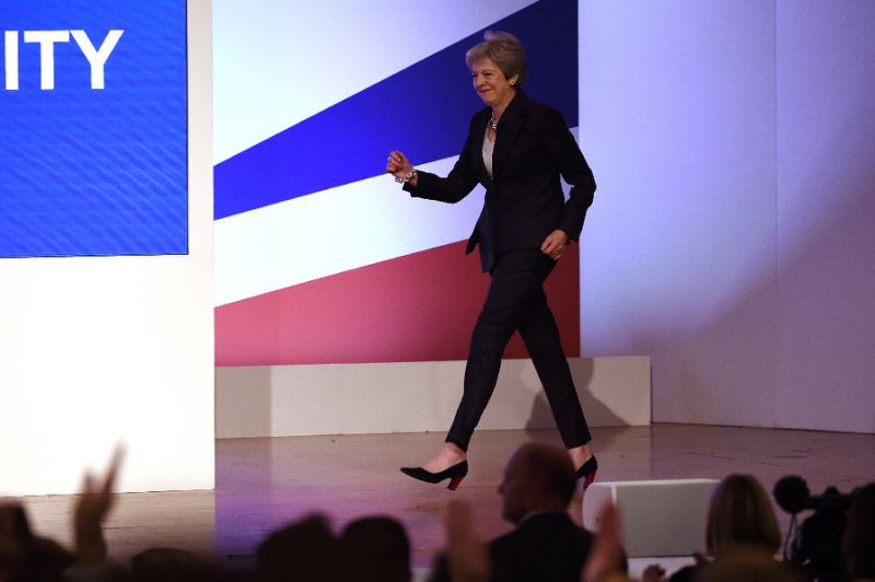 Britain's May shakes it up with 'Dancing Queen' boogie