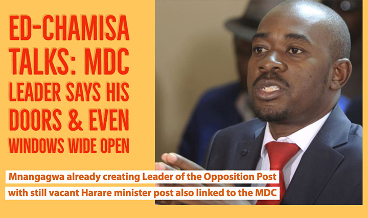 CHAMISA to ED: Let's talk; my doors are open – the windows too
