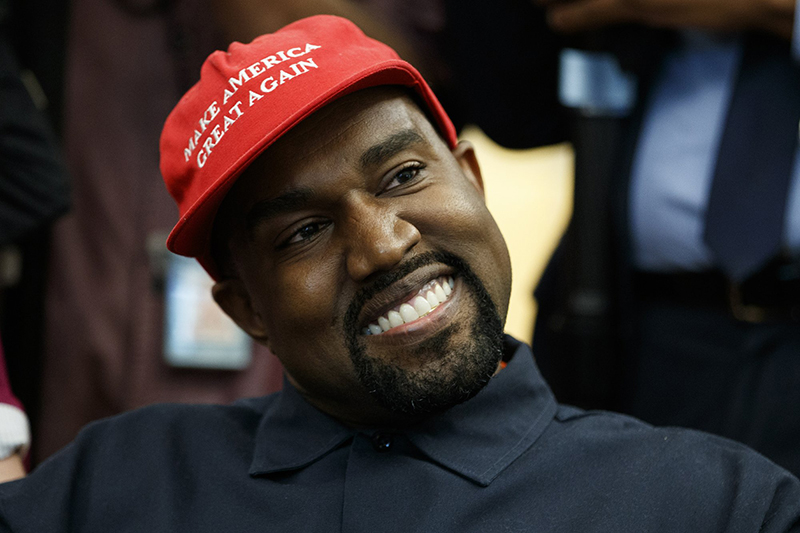 Kanye West, in Trump hat, delivers surreal Oval Office show