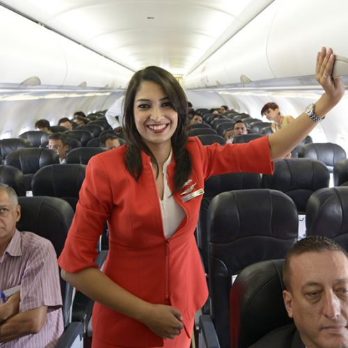 Air hostess falls out of plane, suffers injuries