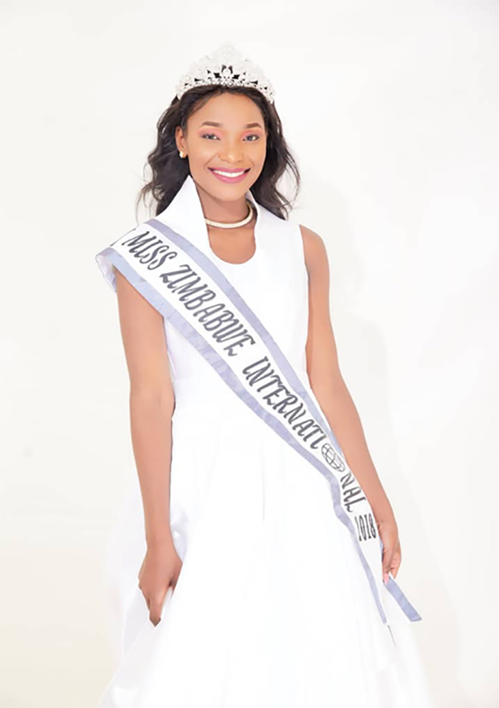 Tania Aaron represents Zim at Miss International pageant