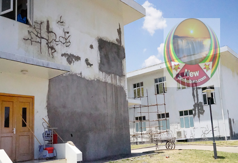 PICTURES: Chinese built Mahusekwa hospital cracking up
