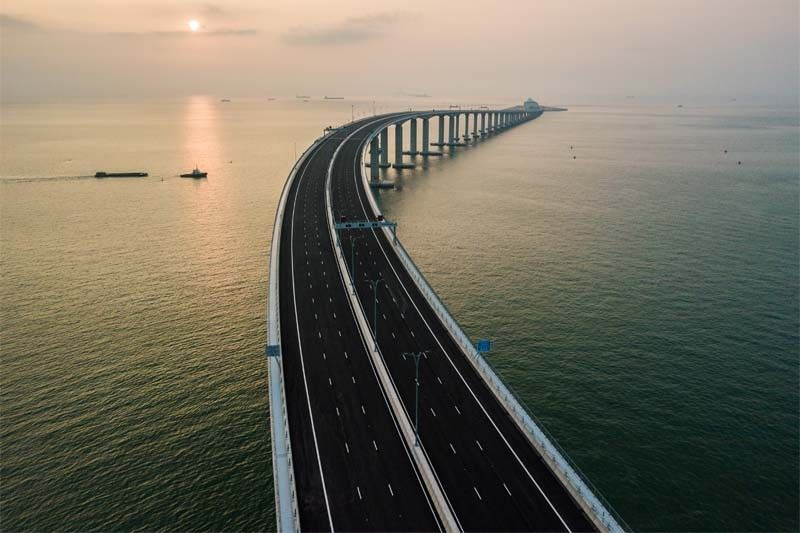 China's president inaugurates world's longest sea bridge; crossing stretches 55 km