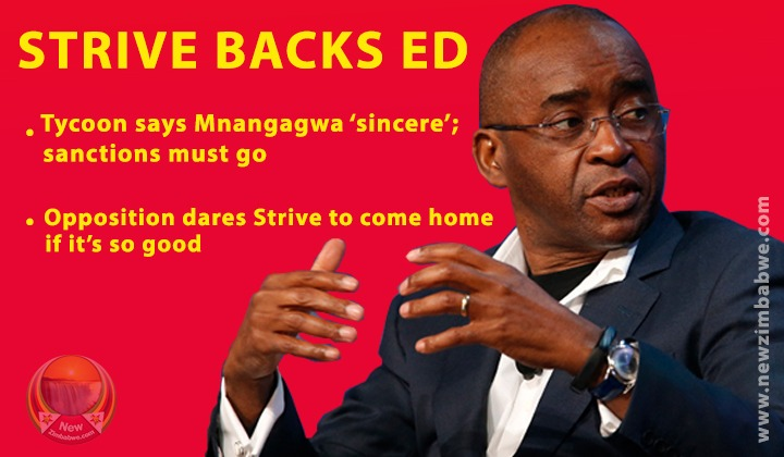 Masiyiwa backs 'sincere' Mnangagwa; unimpressed Opposition says come back home if it's so good