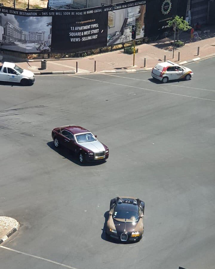 Taking A Bugatti Veyron To Carmax For A Free: Buyanga Moves His Bugatti From Zim To SA; $3m Motor Turns
