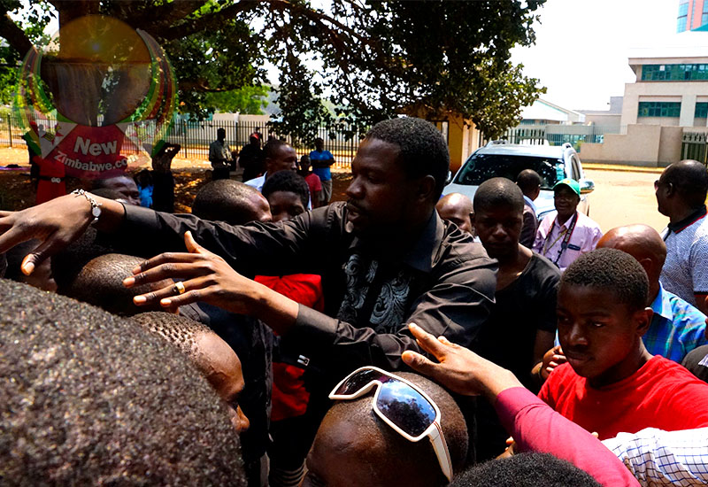 WATCH: Magaya bailed $300 as followers mob him outside court