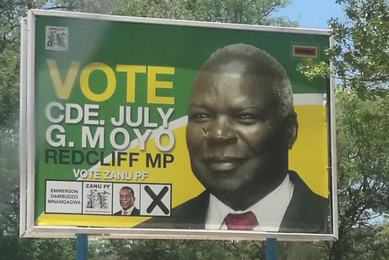 MDC youths seethe as minister's campaign billboards still up 4 months after vote