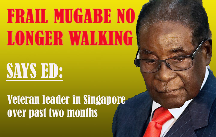 ED: Mugabe unable to walk; in Singapore for two months