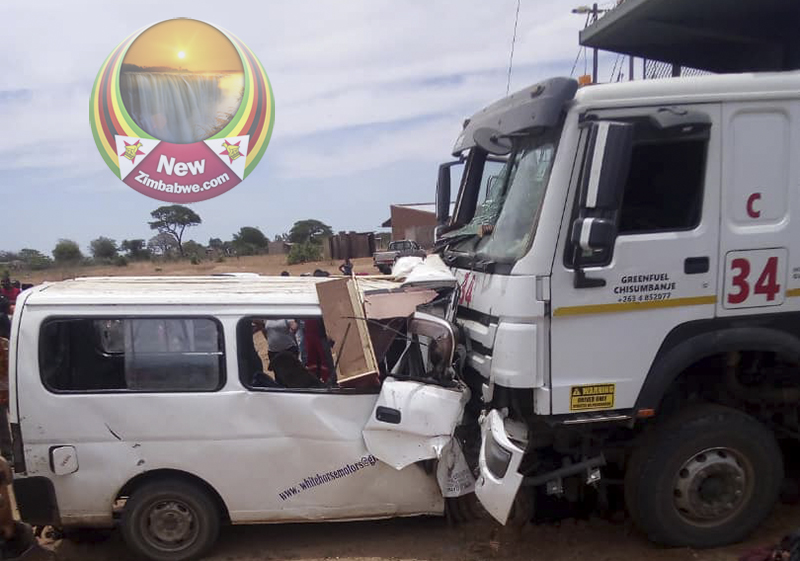 Nine killed as haulage truck collides head-on with kombi