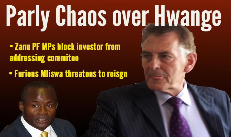 Parly chaos as Zanu PF MPs block Hwange shareholder Van Hoogstraten