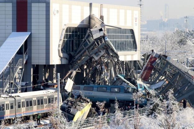 Turkey train crash: At least seven dead in Ankara