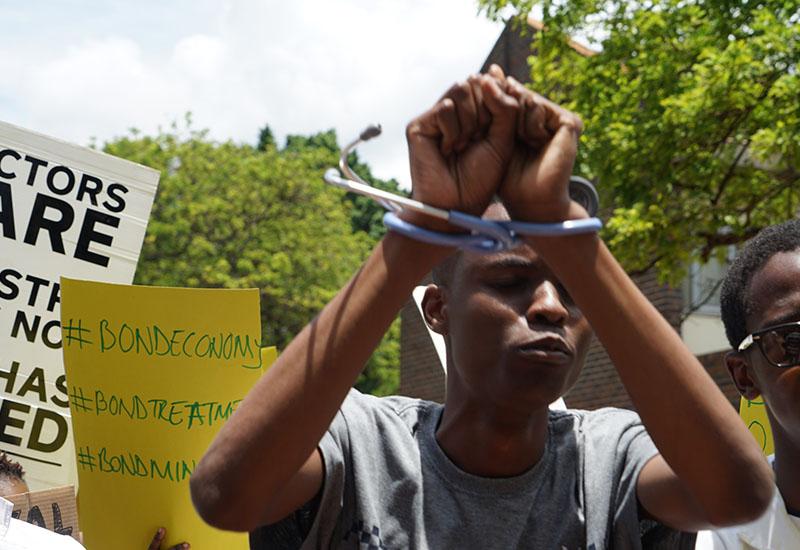 PICTURES: Striking doctors stage demo at Parirenyatwa