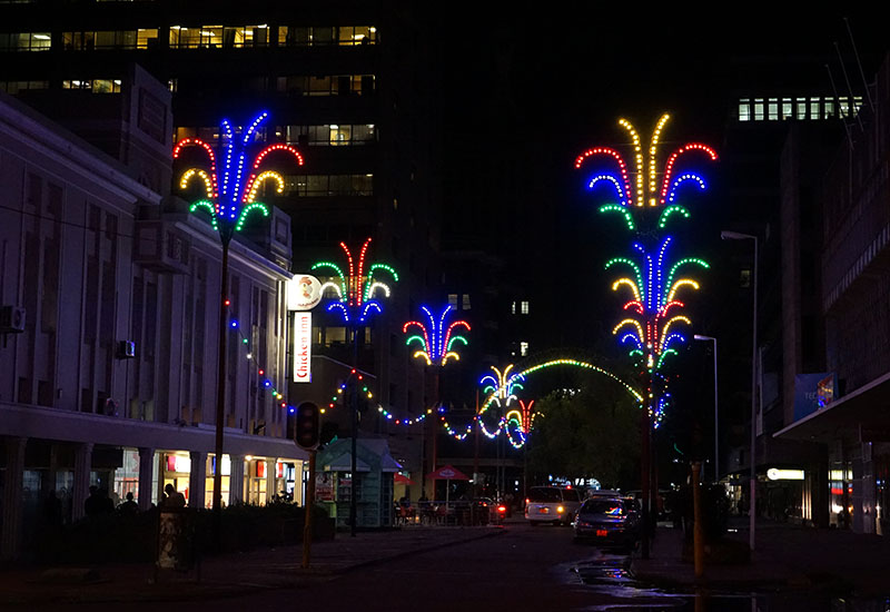 Pictures: Harare sparkles with Christmas lights