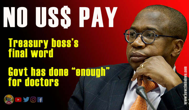 Ncube slams door on US$ wage demands by doctors