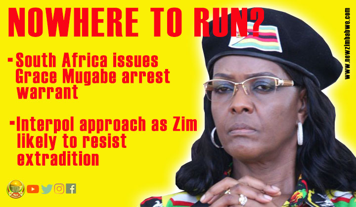 SA seeks Interpol help in Grace Mugabe arrest; Zim minister refuses to comment