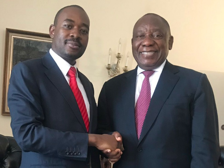 Ramaphosa Accused Of Secretly Funding Chamisa